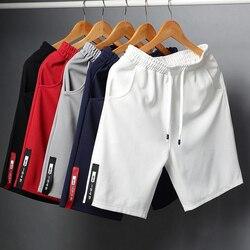 Shorts de algodão masculinos, verão, casual, moda masculina, praia, academia, plus size 4xl roupas masculinas