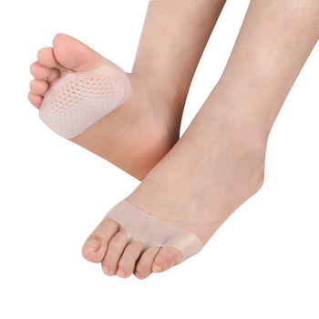1 Pair Soft Silicone Pads Non-slip High-heeled Shoes to Protect Pain Relief Mid-yard Foot Care Invisible Gel Inserts