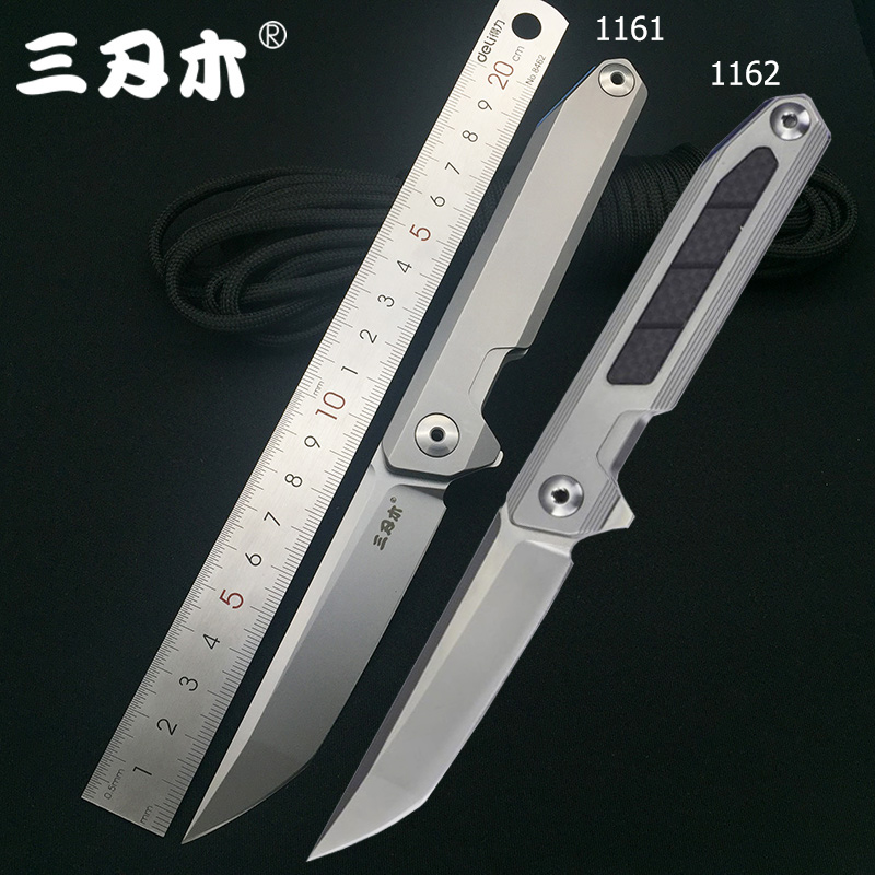 SanRenMu 1161 1162 14c28n Blade Combat Folding Knife Ball Bearing Camping Survival Hunting Utility Tactical EDC Pocket Tool