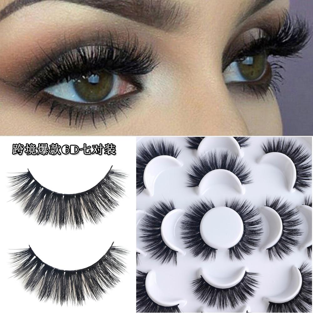 Buenas original 6D false eyelashes 7 pairs packing 6d eyelash extentions thick eye lash fast shipping FREE for large order 711