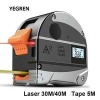 USB Digital Ruler Measuring 30M Laser Range Finder 5M Steel Measuring Tape Distance Measurement for Building Home
