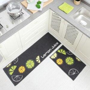 Image 5 - Long Kitchen Mat Bath Carpet Floor Mat Home Entrance Doormat Tapete Absorbent Bedroom Living Room Floor Mats Modern Kitchen Rug