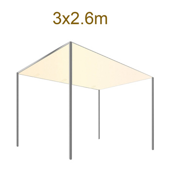 Toldo resistente al desgaste de fácil instalación para sombra de Patio exterior, impermeable, para césped, jardín, pérgola, Patio trasero, cubierta, bloque UV