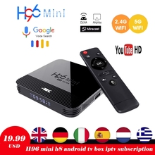 H96 Mini H8 Android 9.0 TV Box RK3228A 4K Smart TV Box H.265 2.4G 5G Wifi Google Player Quad Core Media Player Bluetooth 4.0 dolamee d5 smart tv box android 5 1 quad core wifi 4k bluetooth media player new high quality