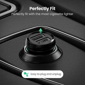 Image 3 - Ugreen מיני 4.8A USB מטען לרכב עבור טלפון נייד Tablet GPS מהיר מטען לרכב מטען USB הכפול לרכב טלפון מטען מתאם במכונית