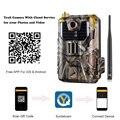 Камера наблюдения через приложение  облачная служба  4G  сотовый телефон  20 МП  беспроводные охотничьи камеры для съемки дикой природы  камер...