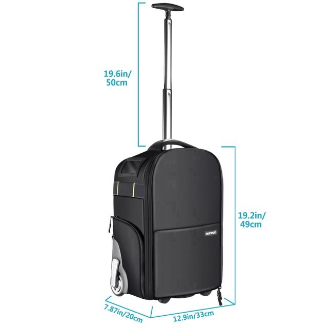 Neewer 2-in-1 Wheeled Camera Backpack Luggage  6