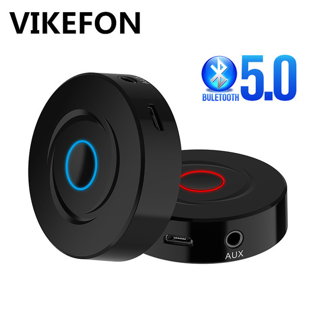 VIKEFON 2 IN 1 Bluetooth 5.0 4.2 Receiver Transmitter RCA 3.5mm 3.5 Jack AUX Stereo Car Wireless Audio Adapter For PC TV Speaker