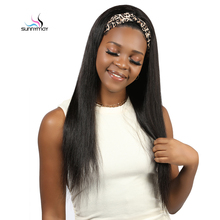 Headband Wig Human-Hair-Wigs Straight Easy-To-Install Natural-Glueless Full-Machine Made
