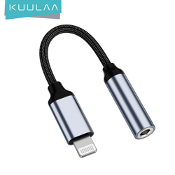 KUULAA For iPhone to 3.5mm Headphones Adapter For iPhone 11 Pro 8 7 Aux 3.5mm Jack Cable For ios Adapter Accessories