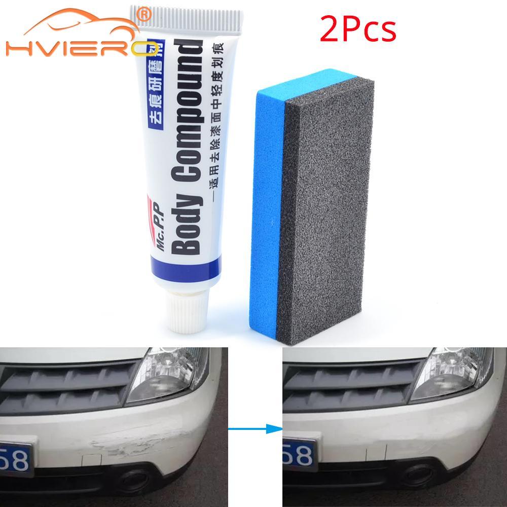 2X araba Styling araba balmumu çizik tamir kiti oto vücut bileşik MC308 parlatma taşlama macun boya temizleyici bakım seti oto cilası