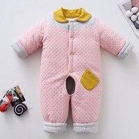 toddler winter thick warm cotton handmade cotton set's infant parkas trousers set Kids foot pants winter newborn baby cloths