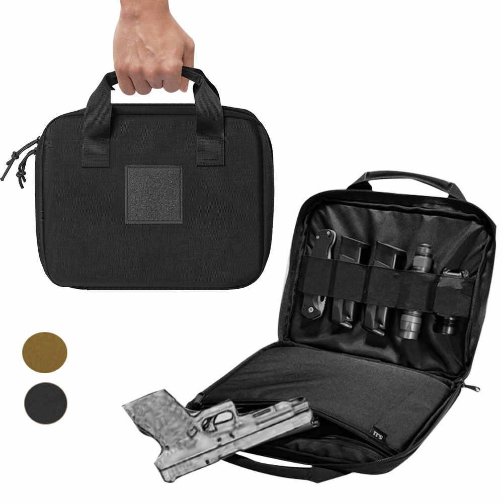 """التكتيكية بندقية حقيبة حافظة 12 """"مسدس حقيبة حمل مع مجلة الحقيبة المحمولة العسكرية مسدس الحافظة دائم مبطن مسدس الناقل"""