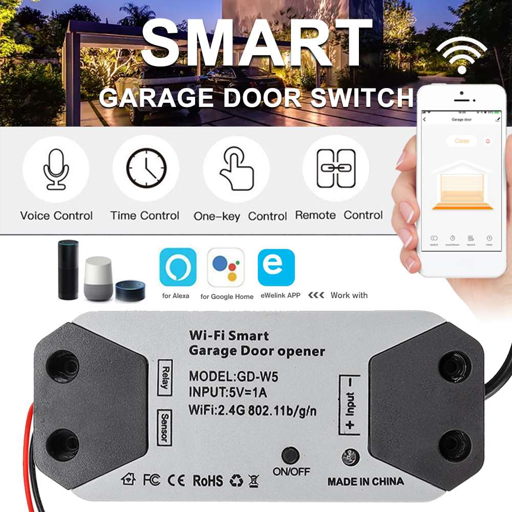 2.4GHZ WiFi Smart Switch Garage Door Opener Smart Home Remote Controller For Alexa For Google Home For Echo APP Control