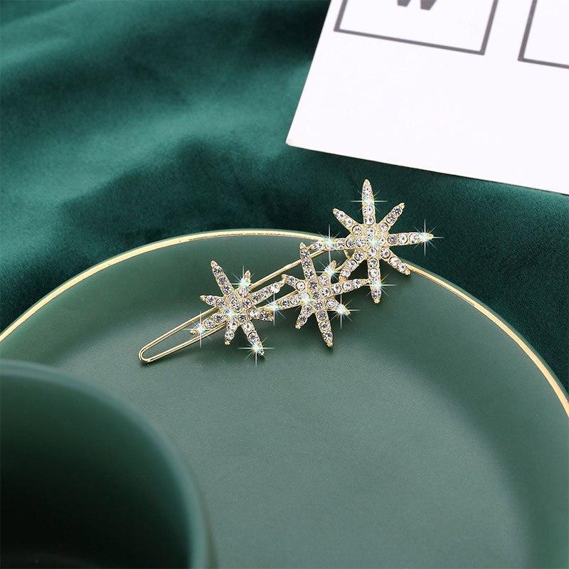 Купить в корейском стиле с изображением снежинок для звезд заколки