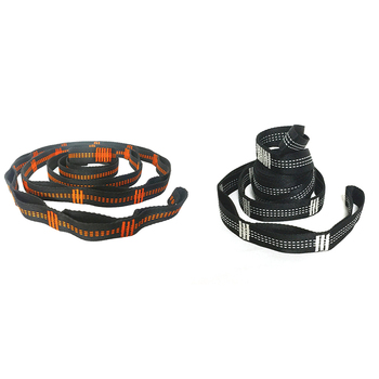 Outdoor Hammock Tree Straps Tree Tie Rope High Load-Bearing Nylon Webbing Rock Climbing Flat Belt Cover load bearing 100kg easy to carry outdoors reticular overstriking nylon rope hammock adult children outdoor sport swing