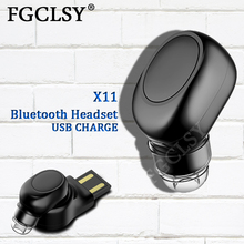 FGCLSY Mini Wireless Blutooth earphone Stereo Hands Free Call Headset with Mic Sport Running Earbuds Earphones For iPhone 8 X