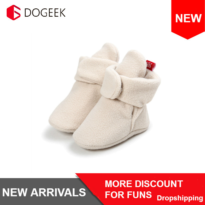 DOGEEK Newborn Baby Boy Shoes Non-Slip Unisex Winter Warm Baby Booties Soft Soled Infant Toddler Kids Girl Footwear Snow Boots