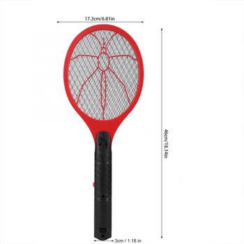Letnia gorąca bateria bezprzewodowa moc elektryczna mucha packa na komary łapka na owady rakieta owady zabójca domu łapka na owady s tanie i dobre opinie CN (pochodzenie) 3-warstwowa 2-4 Godzin Elektryczne Under 2 Hours Batteries 2-Layer Killer Mosquito Swatter 2Pcs AA Batteries