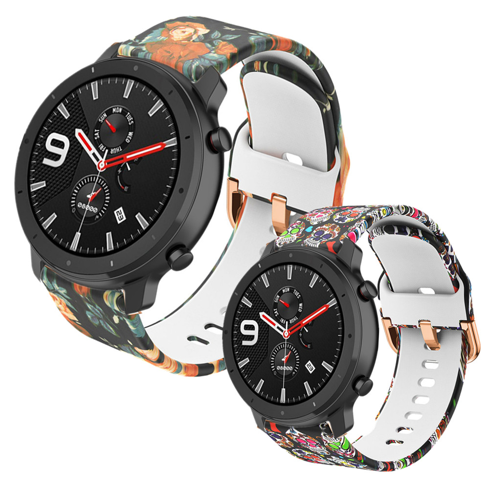 Printing Strap Bracelet For Huami Amazfit GTR 42mm GTS BIP Silicone Watch Band For Garmin Forerunner245 645 Venu Smart Wristband