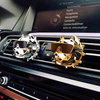 ODOMY Bulldog Deodorante per Auto Clip di Profumo Diffusore di Fragranza Auto Prese D'aria Profumo Odore Bevanda Rinfrescante di Auto FAI DA TE Decor KakaoTalk