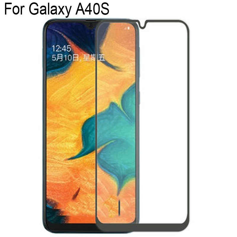 2PCS 9D Full Curved Screen Protector For Samsung Galaxy A40S a40s Full Cover Tempered Glass GalaxyA40S a 40s Protective Flim