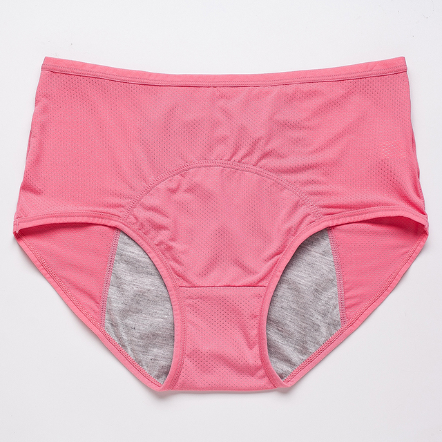 Leak Proof Menstrual Panties Physiological Pants Women Underwear Period Cotton Waterproof Briefs Plus Size Female Lingerie