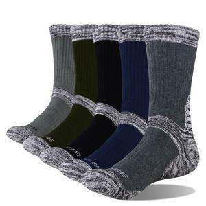 Image 1 - YUEGDE Brand Men 5 Pairs 고품질 쿠션 코튼 통기성 컴포트 캐주얼 스포츠 운동 달리기 하이킹 크루 드레스 양말