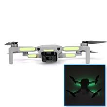 2 adet/takım aydınlık çıkartmalar gece uçuş parlayan dekoratif Sticker yama DJI Mavic Mini Drone yedek parça