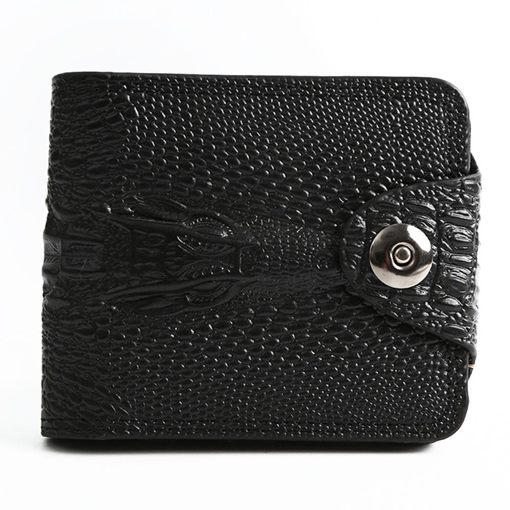 Purse Men Wallet Magnetic-Buckle-Card-Holder Multi-Pocket Bifold Practical Fashion Gift