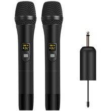 Depusheng W1/W2 UHF dinamik el mikrofonu taşınabilir alıcı kablosuz mikrofon sistemi açık parti konuşma konferansı canlı
