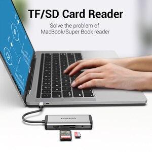 Image 3 - Chính Hãng Vention USB Loại C Sang Type C Sang HDMI VGA USB 3.0 Điện PD 3.5Mm Âm Thanh RJ45 Ethernet Adapter đầu Đọc Thẻ SD/TF USB Hub Mới