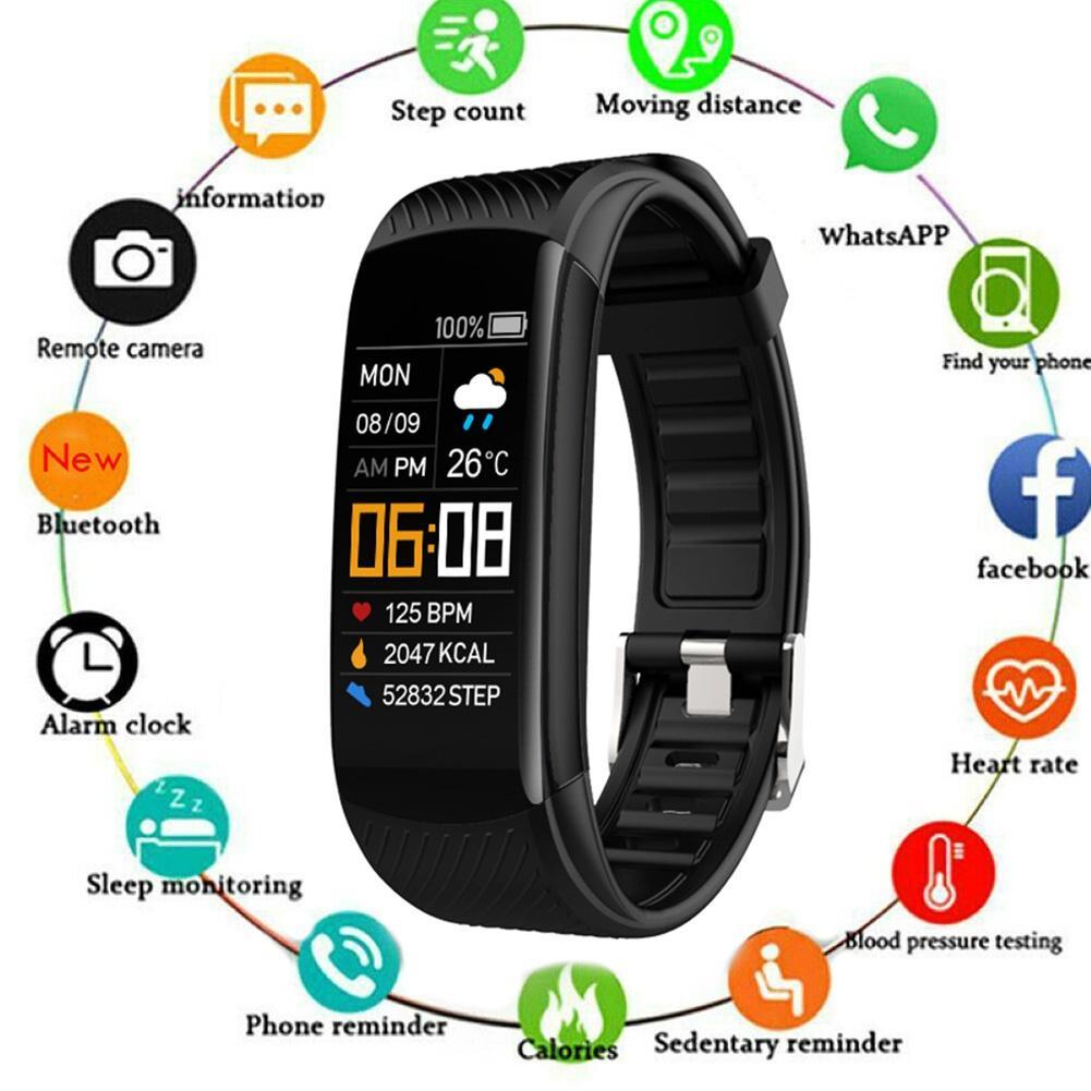 C5S Bluetooth Водонепроницаемый монитор сердечного ритма во время сна фитнес спортивные смарт-браслет многофункциональный сенсорный Экран смарт-браслет 1