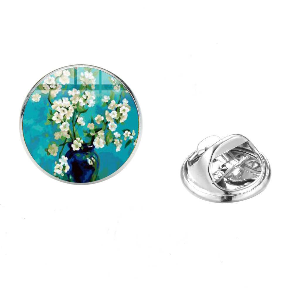 SONGDA Retro pintura los broches de la noche estrellada Van Gogh famosa pintura al óleo serie Arte impresión cristal cabujón broche Pin insignias
