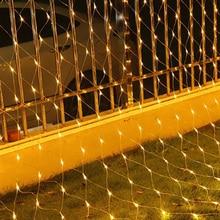 3M LED Mesh Net Fairy String Light Waterproof Outdoor Garden Curtain Lights Fairy Christmas Garlands Wedding Holiday Decor thrisdar 6x4m 672 led net mesh fairy led string light 8 modes outdoor christmas new year wedding holiday net fairy garland