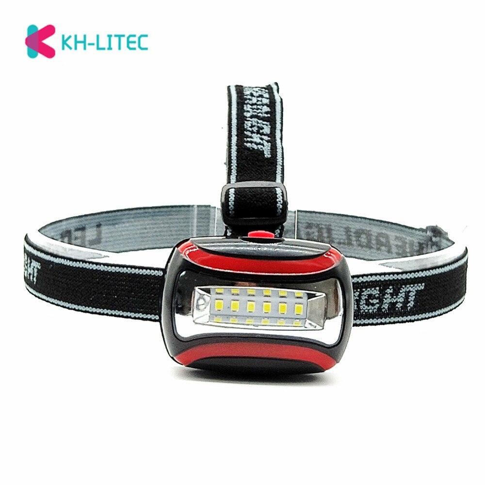 Mini 6LED Headlamp Headlight 3 Modes Forehead Flashlight Torch Lighting Waterproof Head Lamp Lantern For Outdoor Hunting Fishing