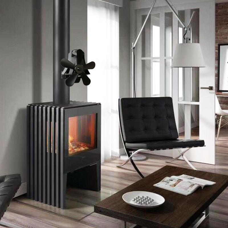 TOP 5 Blade Heat Fireplace Fan Stove Fan Powered Stove Fan Komin Wood Burner Eco Friendly Quiet Fan Heat Distribution