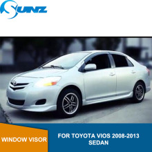 Side window deflectors For Toyota VIOS 2008 2009 2010 2011 2012 2013 sedan Window Visor Vent Shade Sun Rain Deflector Guard SUNZ