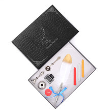 European Style Feather Pen Easy To Use Student Stationery Set Plus Fire Paint Wax Fashion Gift Box Packaging Alloy Holder