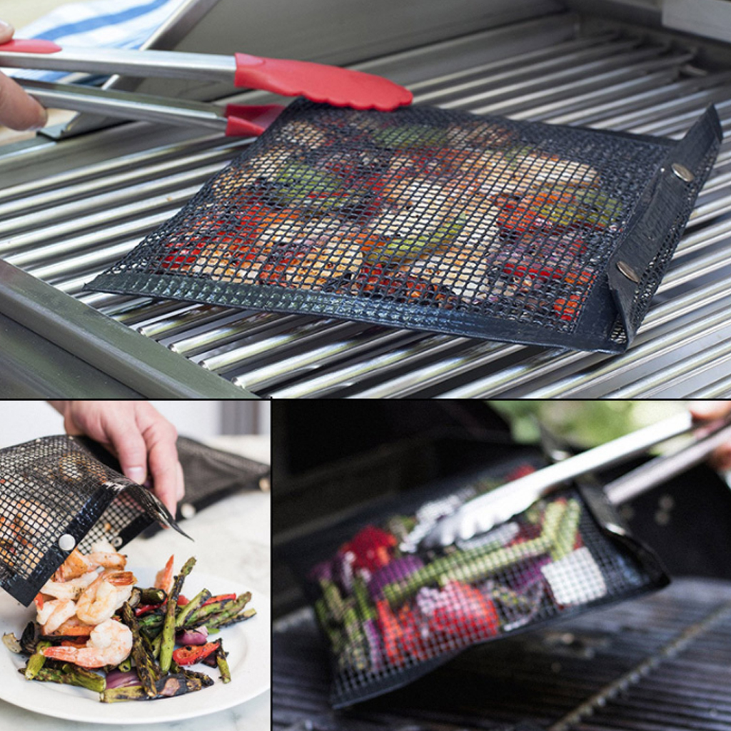 New Hot Non-Stick Mesh Grilling Bag Outdoor Picnic Tool Barbecue Bag Reusable And Easy To Clean Non-Stick BBQ Bake Bag Гриль