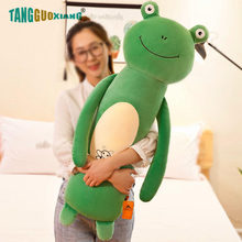 50-90cm Cute Cartoon Frog Cat Fox Pig Rabbit Pillow Lovely Plush Toys Soft Stuffed Animal Dolls for Baby Kid girl Xmas Gift(China)