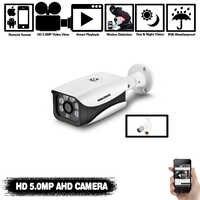 H.265 5MP AHD cámara de seguridad Video vigilancia cámara exterior resistente a la intemperie HD CCTV Cámara 6 * Luz de matriz 40-50M visión nocturna