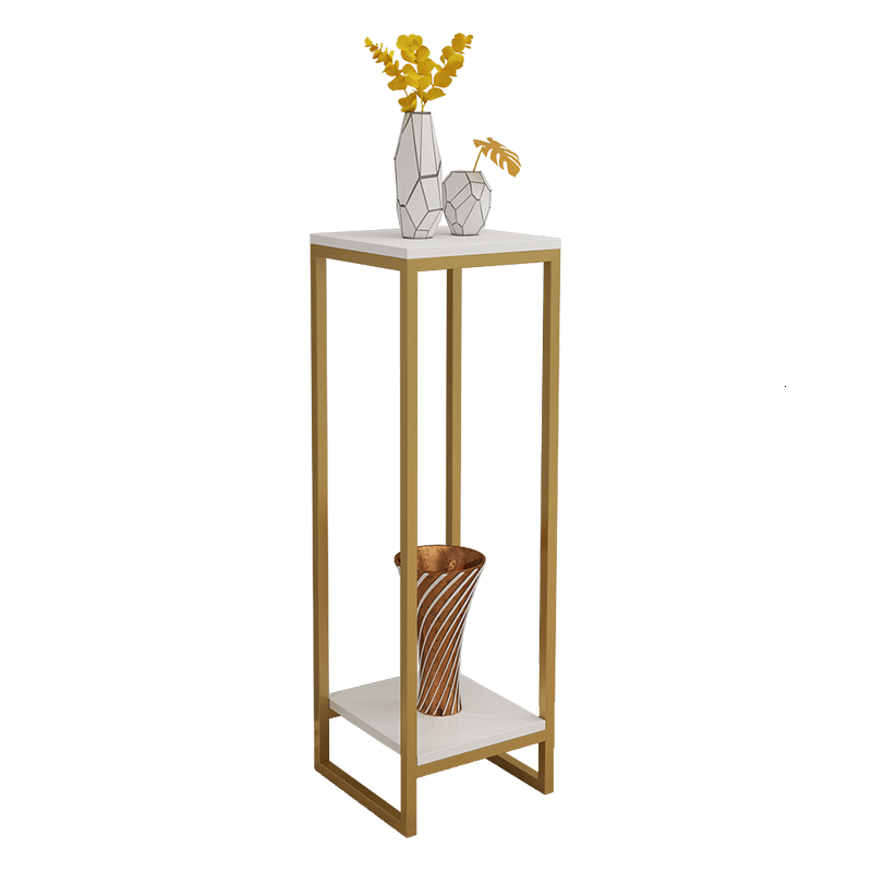 Iron Art Flower Rack Golden Simplicity A Living Room Indoor Bonsai Decorate Frame Multi-storey Shelf Soft