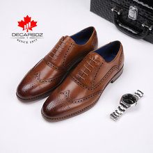 Men Full Grain Oxford Shoes Men 2019 Autumn & Winter Genuine Leather Formal Shoes Brand Fashion Luxury Wedding Dress Men's Shoes(China)