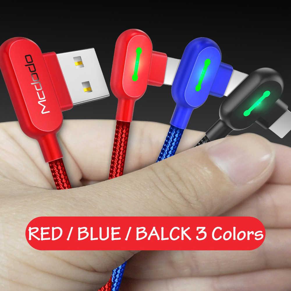 MCDODO 1.8m câble LED USB pour iPhone X 8 7 6 5 6s charge rapide câbles de données USB pour iPhone 11 Pro XS MAX XR X câble de chargeur