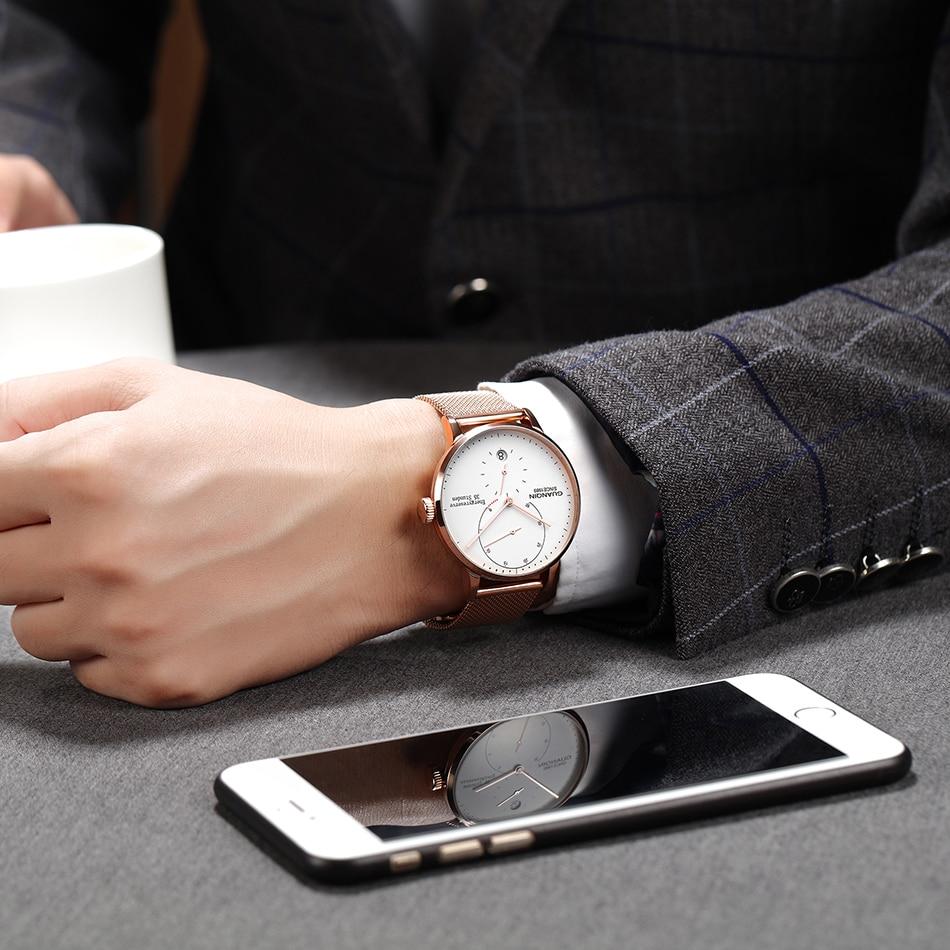 Guanqin relógio mecânico masculino negócios moda relógios