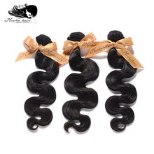 MOCHA Hair Human-Hair-Extension Brazilian Body-Wave 10A Natural-Color 3-Bundles10--26-100%Unprocessed