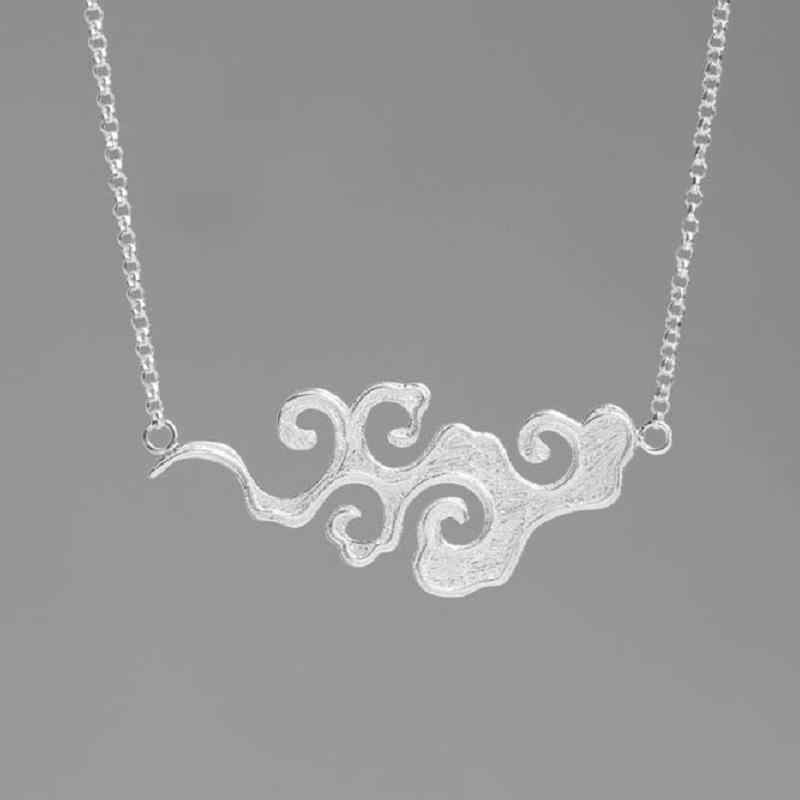 INATURE 925 niezawodnego srebra mody zachód słońca chmura wisiorek naszyjnik Choker naszyjniki dla kobiet