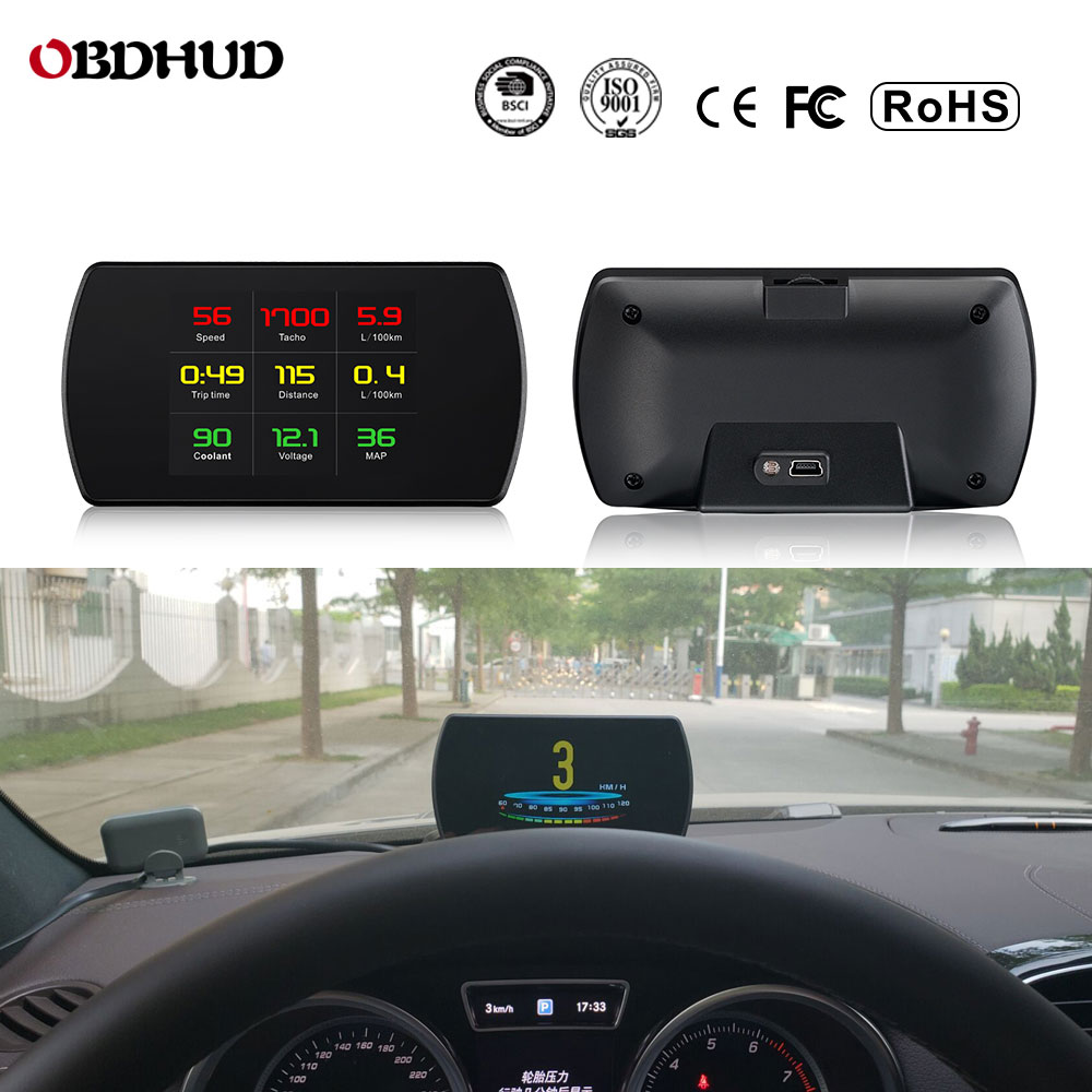 25 Functions 48 ECU Car Data OBD2 Digital OBD Gauge HUD Auto Diagnostic Tools GPS Digital Meter TFT HD Display For All Cars-in Head-up Display from Automobiles & Motorcycles