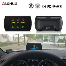 цена на 25 Functions 48 ECU Car Data OBD2 Digital OBD Gauge HUD Auto Diagnostic Tools GPS Digital Meter TFT HD Display For All Cars